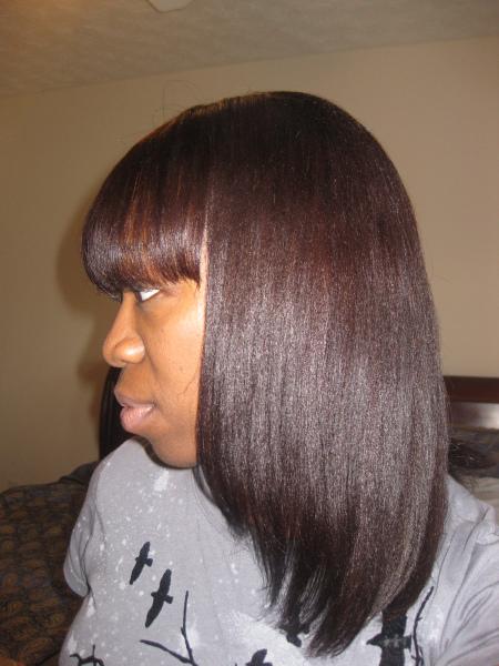 Cut Bangs On Relaxed Hair Black Hairstyles