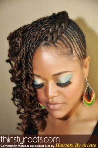 natural hair style twists braids front view