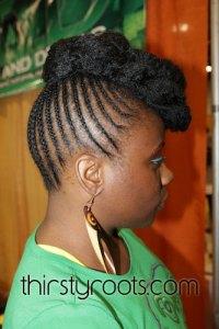 African American Braided Hair Bun