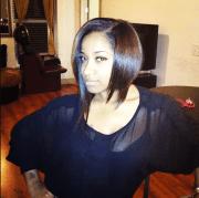 toya wright short bob hairstyle