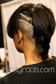 shaved side haircut black woman