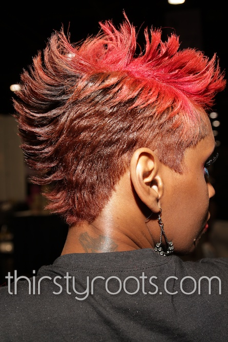 Short Relaxed Red Mohawk