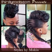 fishtail-braided-style-with-curled-retro-bangs