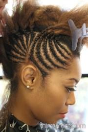 braided bump hairstyle