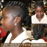 faux braided mohawk