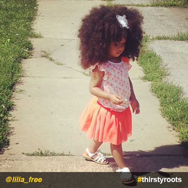 InstaFeature Little Girl Big Curly Natural Hair Liliafree