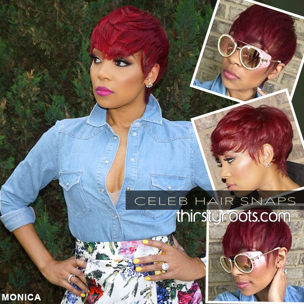 Short Red Haircut For Black Women Monica Brown