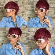 short red haircut black women