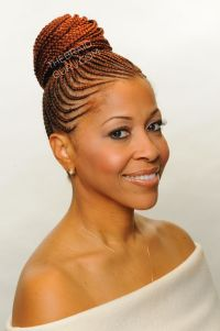 Black Braid Styles Into A Bun | cornrows into twist bun ...