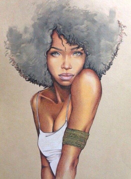 Curly Head Girl Drawings