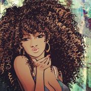 amazing black hair art