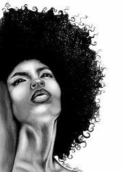 amazing black hair art