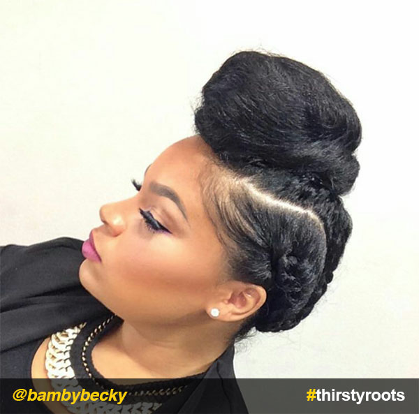 Braided-up-bun-updo-natural-hairstyle