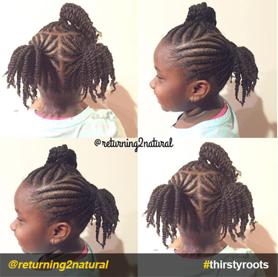 20 Cute Natural Hairstyles For Little Girls