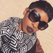 short pixie haircut with black