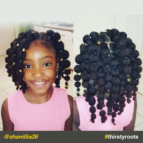 Hair Puff Balls Hairstyle For Little Black Girls