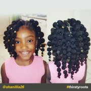 hair puff balls hairstyle little