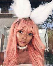 pastel pink hair blonde