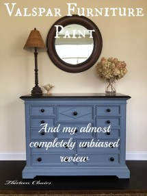 Painting With Valspar Furniture Paint - Thirteen Chairs