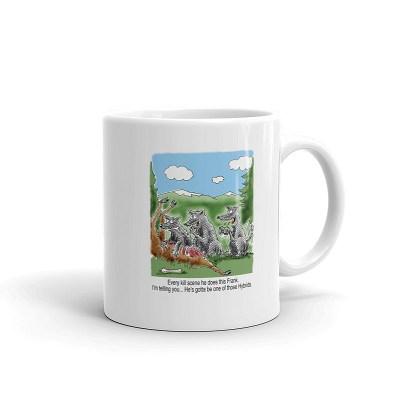 wolf hybrid coffee mug 11oz