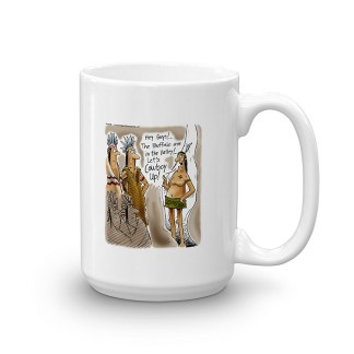 cowboy up coffee mug 15oz