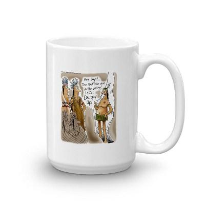cowboy up coffee mug 15oz