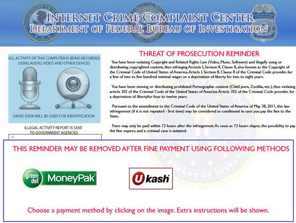 Internet Crime Complaint Center Department of Federal Bureau of Investigation Virus