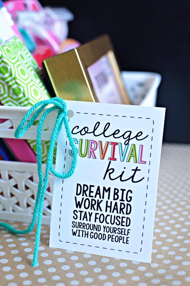 College Survival Kit Ideas : college, survival, ideas, College, Survival, Printables