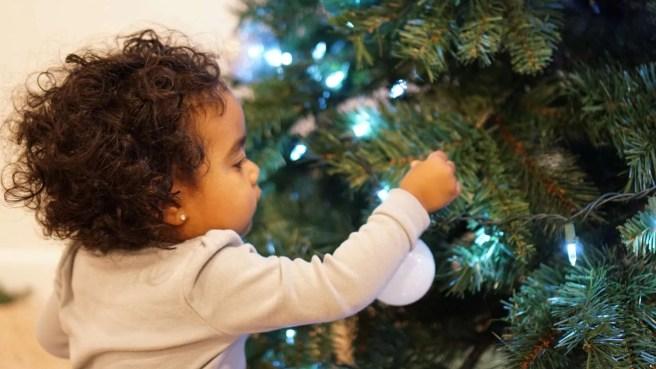 Adding christmas ornaments