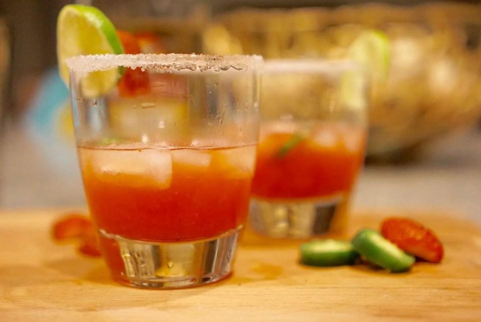 Easy Strawberry Jalapeño Margarita