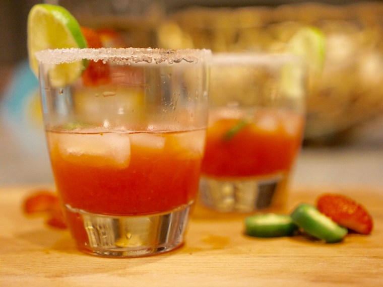 Easy Strawberry Jalapeño Margarita