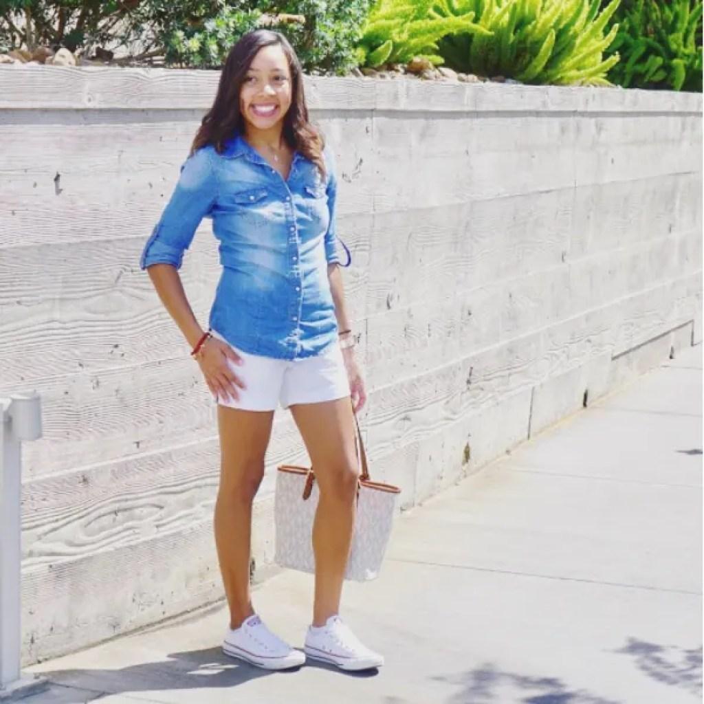 chambray and shorts