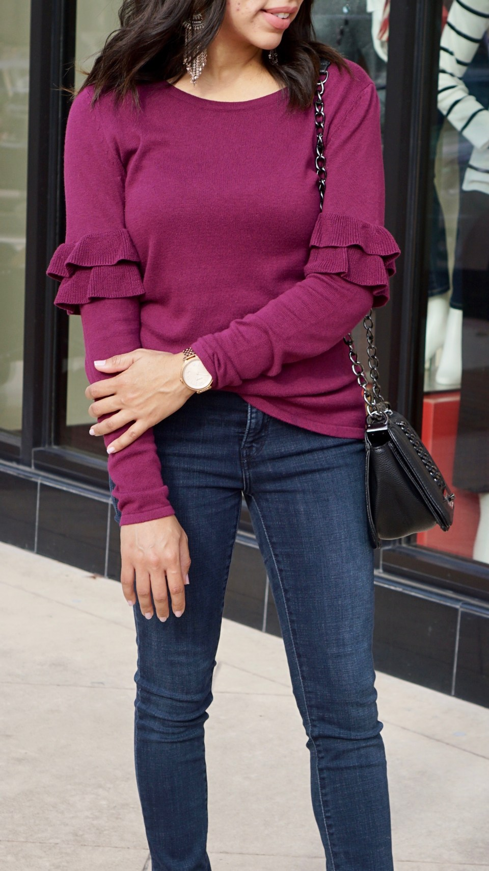 Ruffles Sleeves Sweater