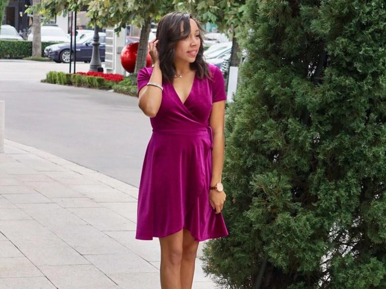 Velvet Wrap Dress + One Year Blog Anniversary