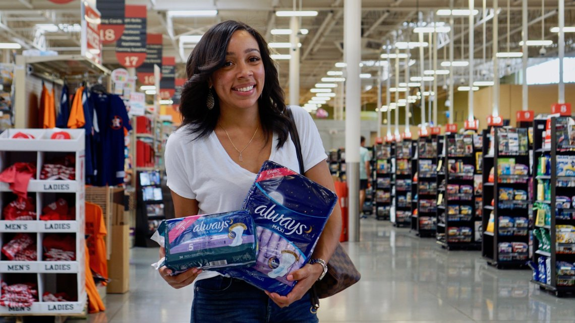 Always, HEB, #EndPeriodProverty, Period Products, Periods, Girls, Women, Hygiene,