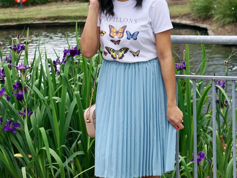 Trendy Thursday Link Up + How to Style a Pleated Skirt this Spring