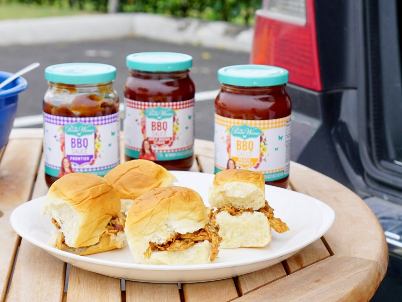 Pioneer Woman BBQ Sauces, Tailgate ideas, tailgating, bbq, bbq sandwiches, bbq meal, bbq chicken, chicken, bbq chicken recipe, recipe