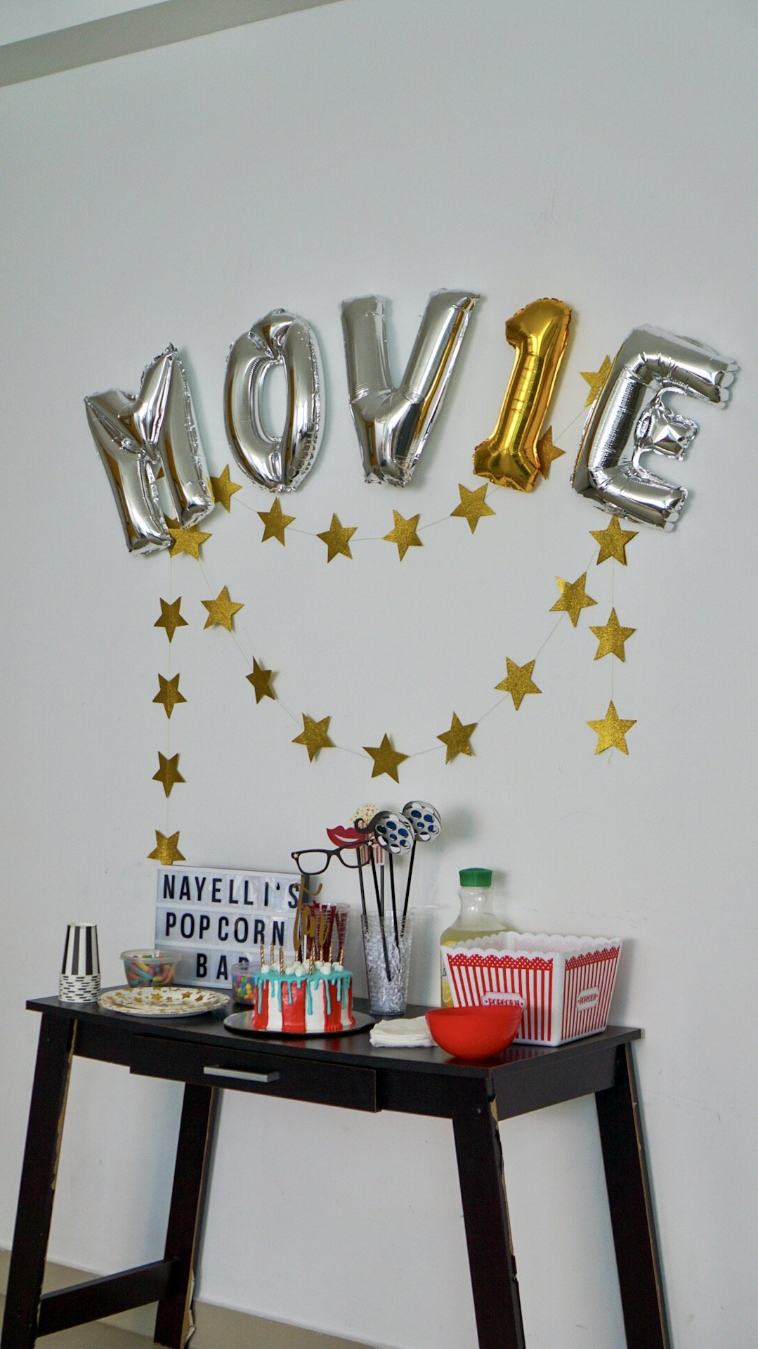 Movie Theme Birthday Party Idea for Kids, popcorn, movie, Netflix party, Movie Party, Party Time, Movies, Family Movie Night