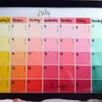 DIY Calendar with Paint Swatches