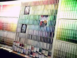 paint swatches at store