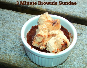 3 Minute Brownie Sundae