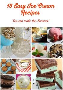 15 Easy Ice Cream Recipes