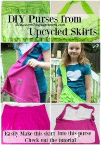 DIY Purse from Skirt Upcycle