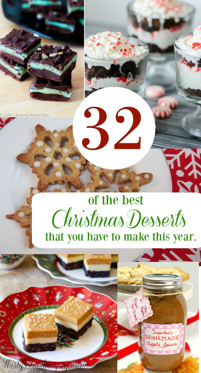 32 best christmas dessert recipes thirtysomethingsupermom these christmas desserts are so easy list is so good i need to make them solutioingenieria Choice Image
