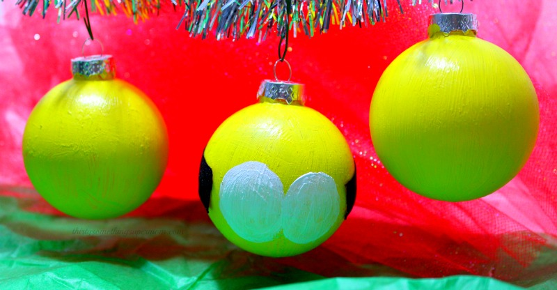 diy christmas ornaments diy minion ornamnets - Minion Christmas Ornaments