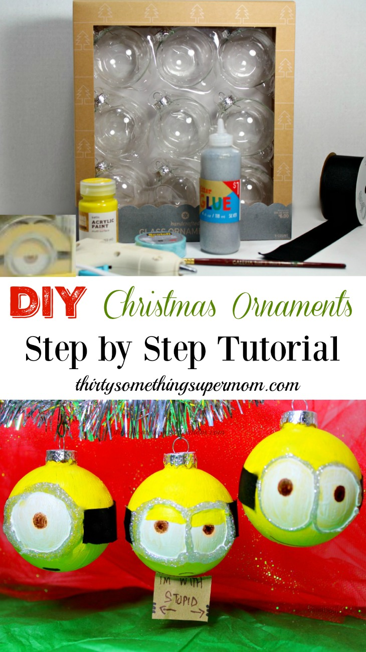 diy christmas ornaments minions craft