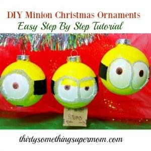 Easy tutorial to create a cute minion diy christmas ornament.