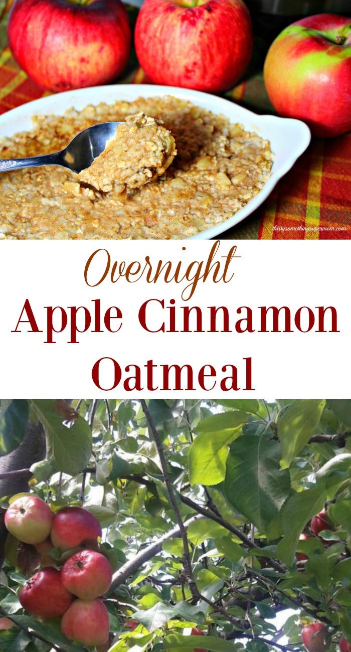 Easy Overnight Apples & Cinnamon Oatmeal