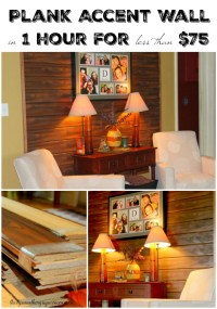 DIY wall decor: Wood Plank Accent Wall ...