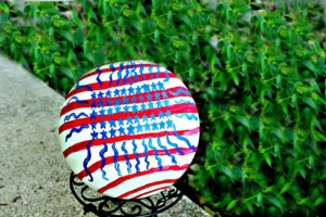 Make Your Own Patriotic Garden Ball